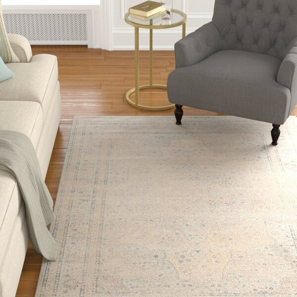 Frith Light Blue / Cream Area Rug by Charlton Home