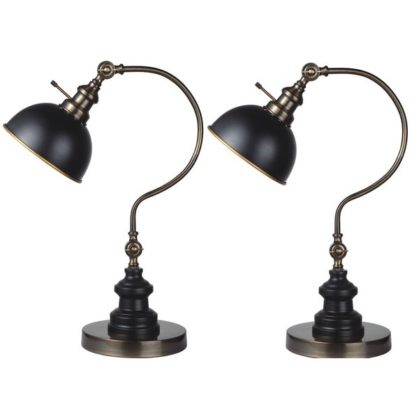 Garon 2 Point Adjustable Goose Neck 22 Arched Table Lamp (Set of 2) by Darby Home Co