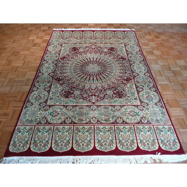 One-of-a-Kind Pellegrino Hand-Knotted Wool Red Area Rug by Bloomsbury Market