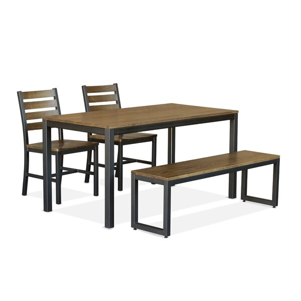 Orma 4 Piece Solid Wood Dining Set