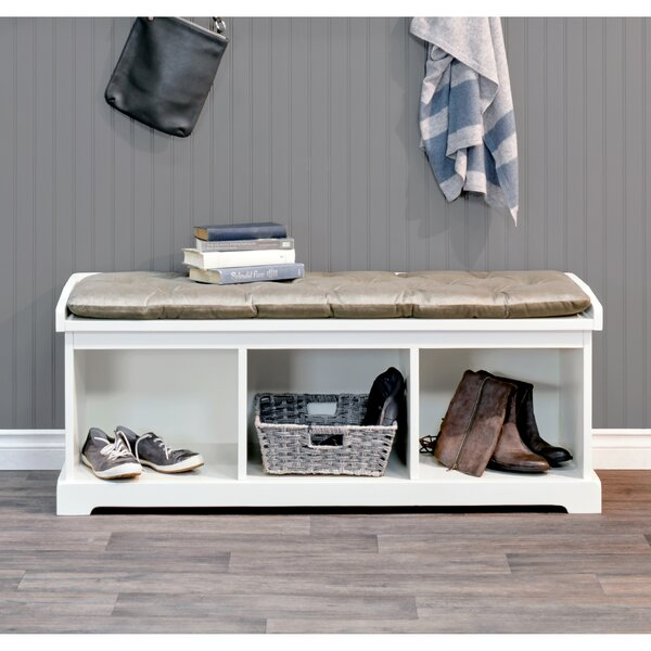 Uribe Wood Storage Bench by Charlton Home Charlton Home