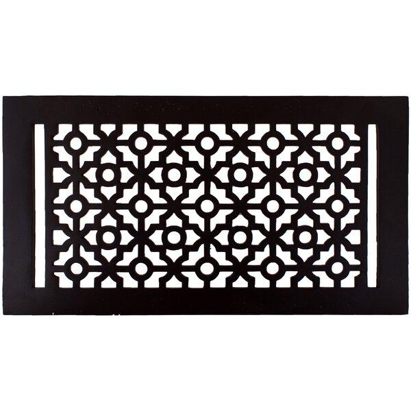 7.5 x 13.5 Pasadena Floor Register in Black by Hamilton Sinkler