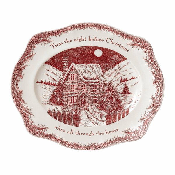 Twas the Night Oval Platter by Johnson Brothers