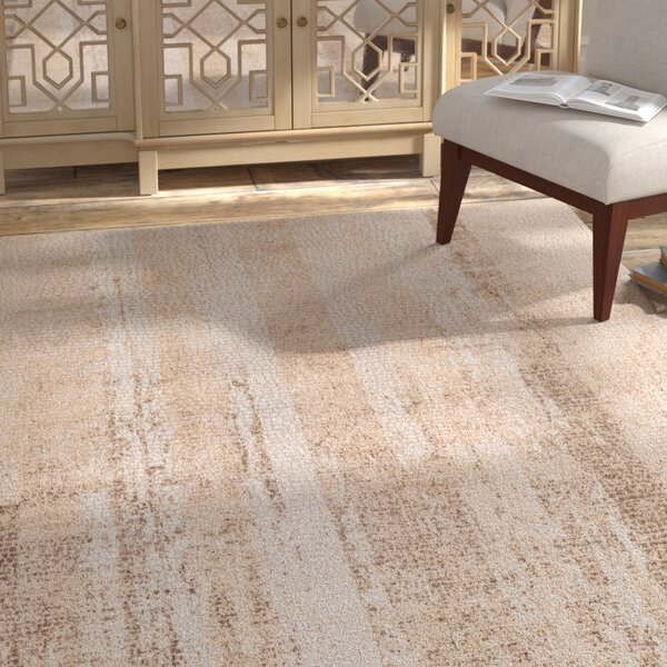 Eakes Distressed Camel/Brown Area Rug by Bungalow Rose