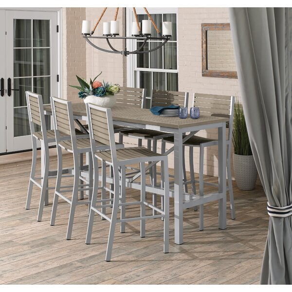 Caspian 7 Piece Bar Height Dining Set