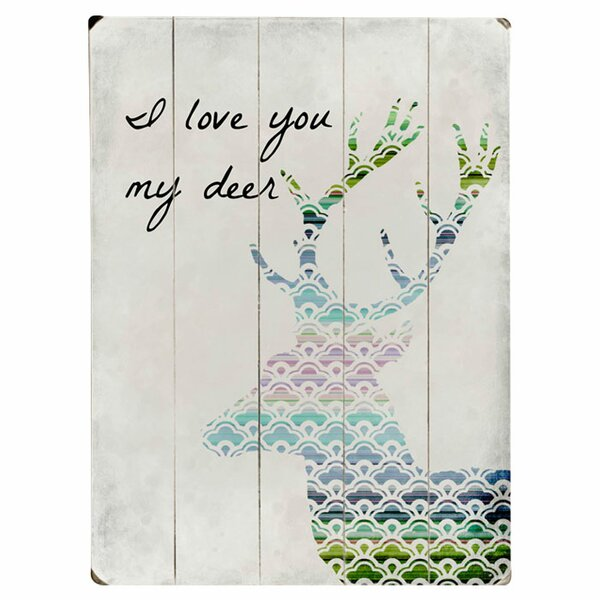 I Love You My Deer Graphic Art Print Multi-Piece Image on Wood by Artehouse LLC