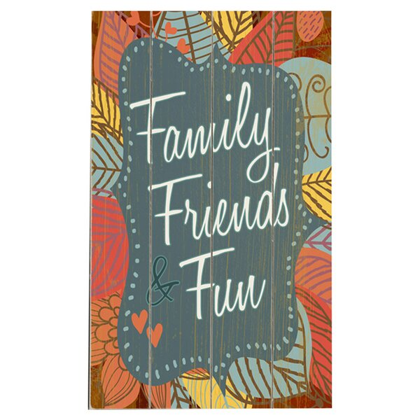Family Friends Graphic Art Multi-Piece Image on Wood by Artehouse LLC
