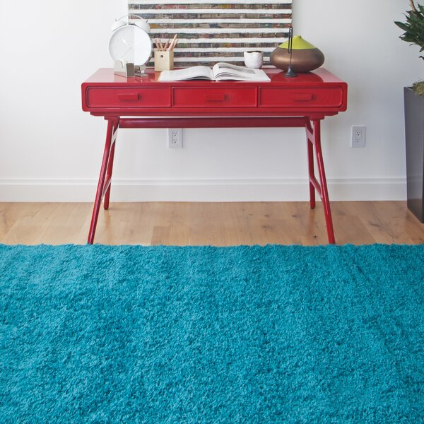 Justine Teal Area Rug by Latitude Run