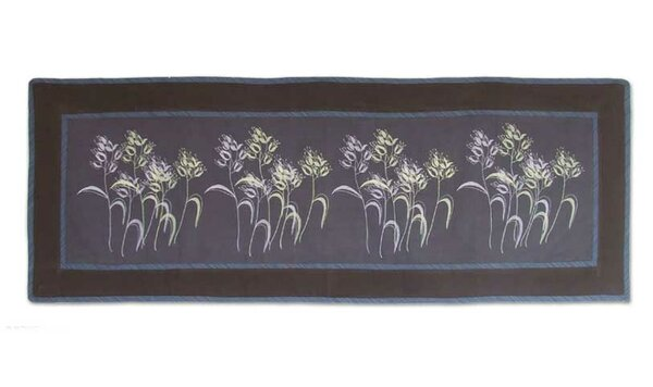Dainty Dance Cotton Table Runner by Novica
