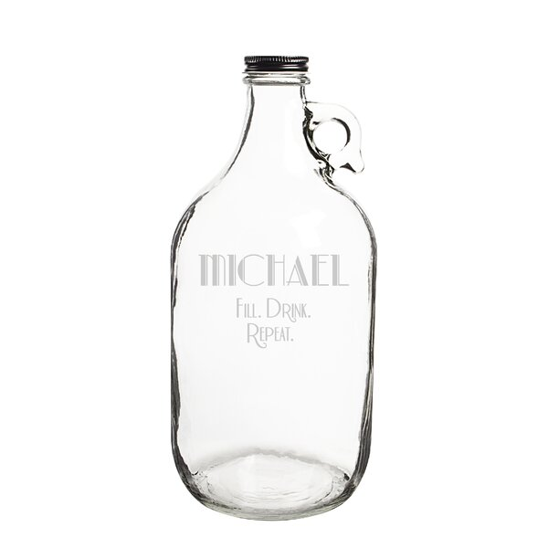 Personalized Fill Drink Repeat 64 Oz. Craft Beer Growler by Cathys Concepts