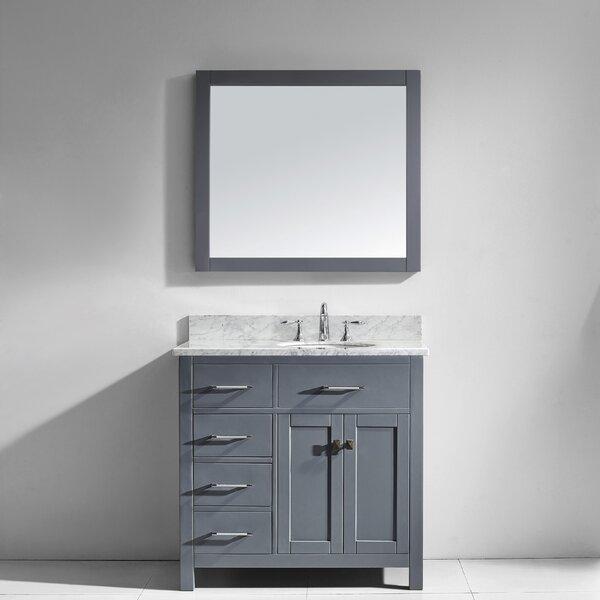 Savitsky 35 Single Bathroom Vanity Set with Mirror by Latitude Run