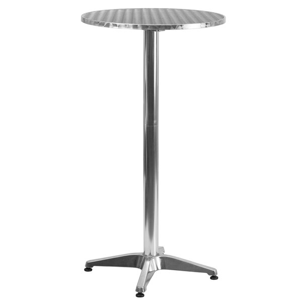 Folding Aluminum Bar Table by Offex