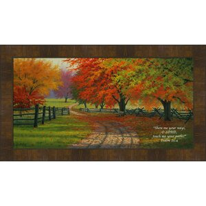 Path Through the Maples by Charles White Framed Photographic Print by Hadley House Co