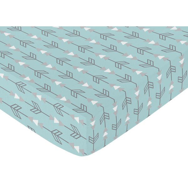 Arrow Earth and Sky Print Fitted Crib Sheet by Sweet Jojo Designs