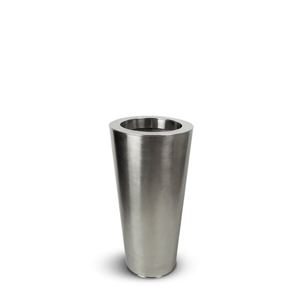Secrist Stainless Steel Pot Planter by Wrought Studio