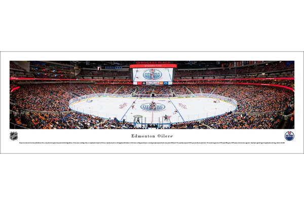 NHL Edmonton Oilers 1st Game at Rogers Place Photographic Print by Blakeway Worldwide Panoramas, Inc