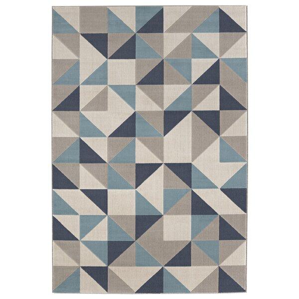 Malmberg Blue/Gray Area Rug by Ivy Bronx