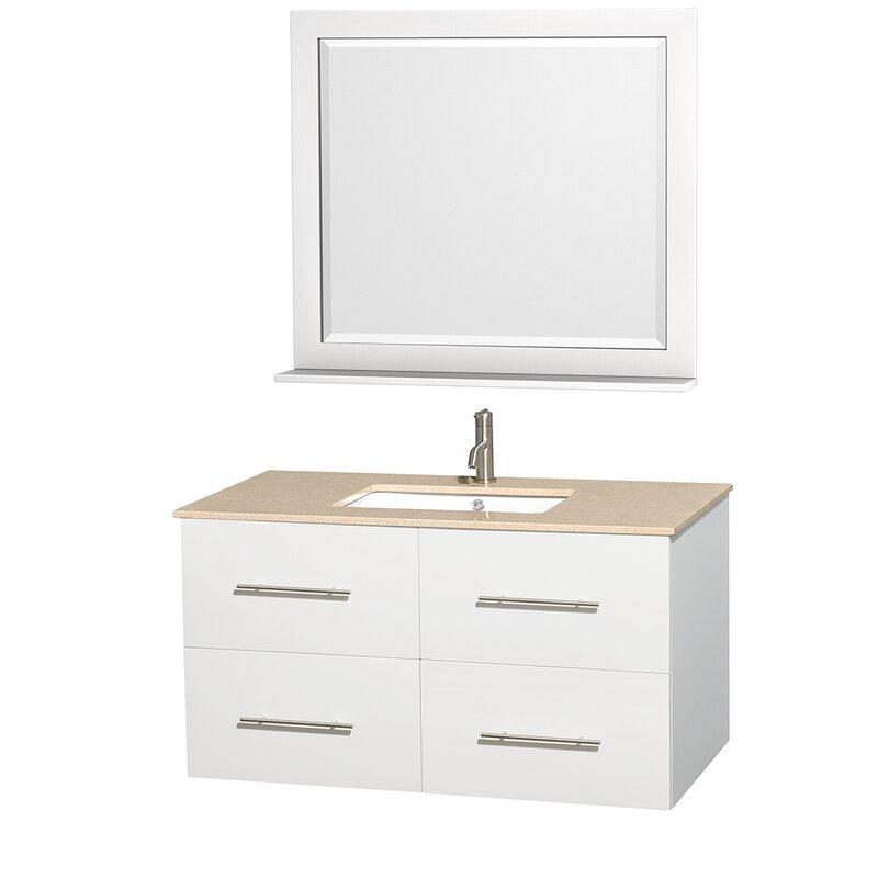 """Bathroom Vanity Base wyndham collection centra 42"""" single bathroom vanity base"""