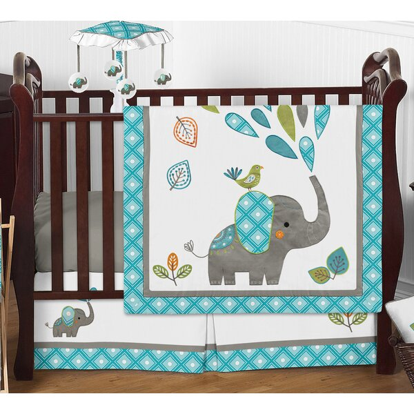 Mod Elephant 4 Piece Crib Bedding Set by Sweet Jojo Designs
