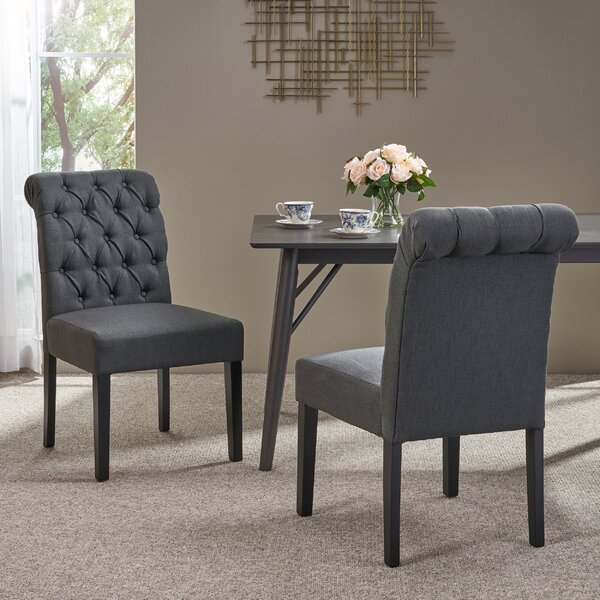 Online Reviews Perales Upholstered Dining Chair (Set of 2) by Canora Grey