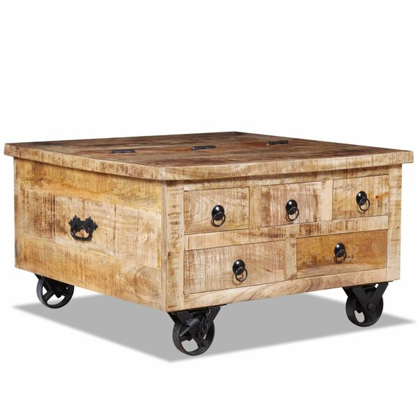 Price Sale Neve Wheel Coffee Table With Storage