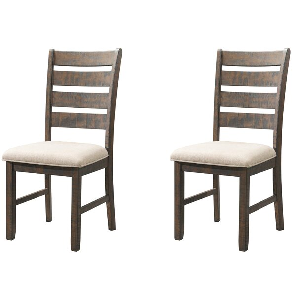 Ismay Ladder Back Side Upholstered Dining Chair (Set of 2) by Three Posts