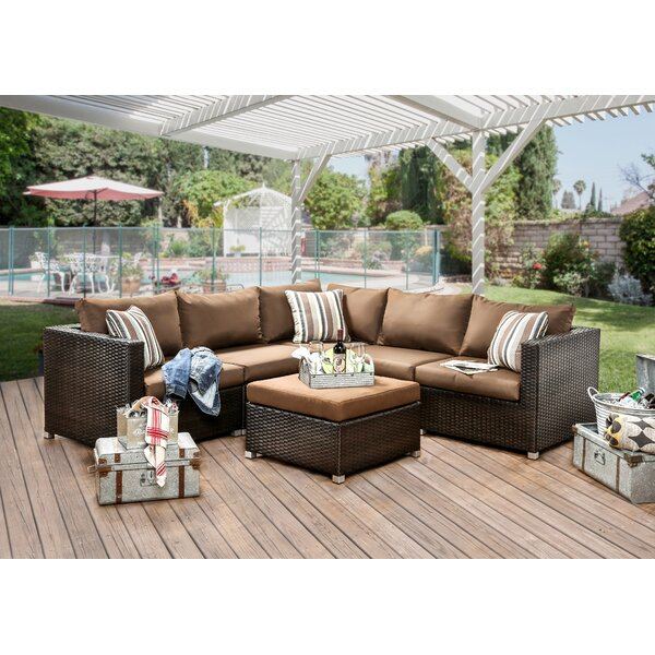 Grasse 6 Piece Sectional Seating Group with Cushions by Hokku Designs