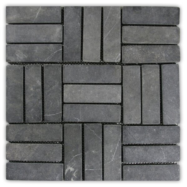 Gambia 1.3 x 4 Natural Stone Mosaic Tile in Gray by CNK Tile