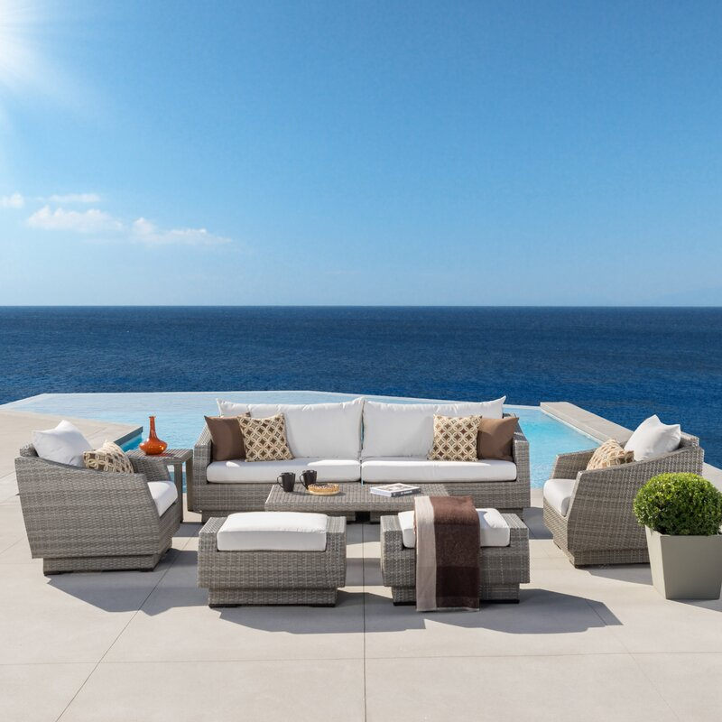 Image of Alfonso 8 Piece Deep Seating Group with Cushion up to 18% off