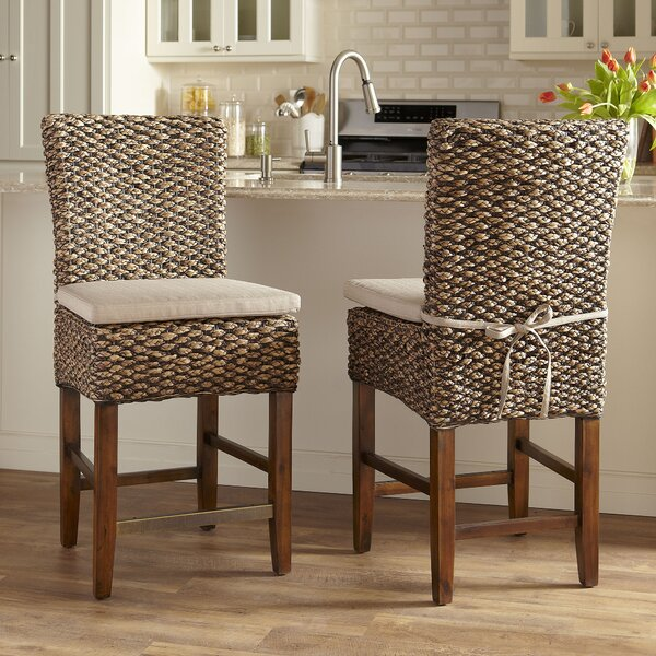24.75  Woven Seagrass Bar Stool (Set of 2) by Birch Lane™