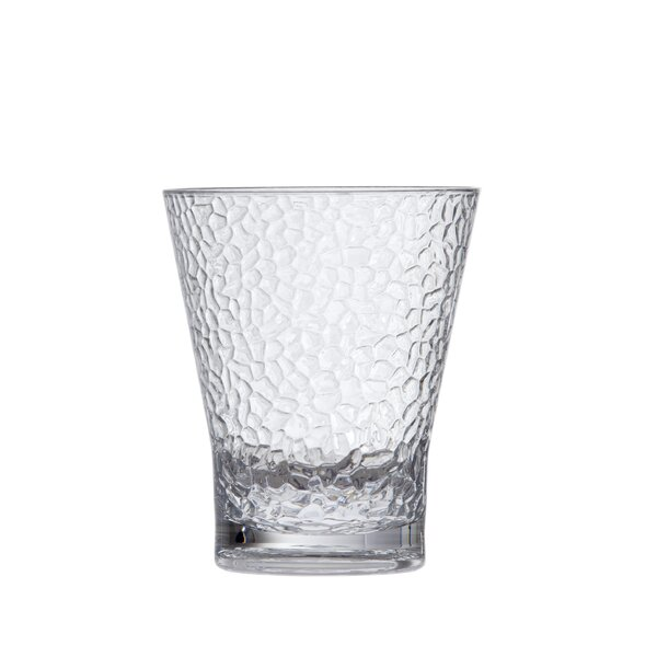 Hammered Juice 10 oz. Plastic Every Day Glass (Set of 6) by D&V