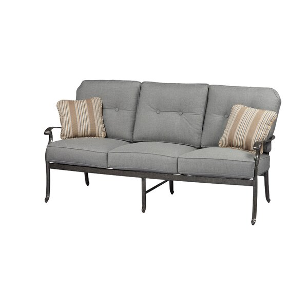 Pinheiro Patio Sofa with Sunbrella Cushions by Canora Grey