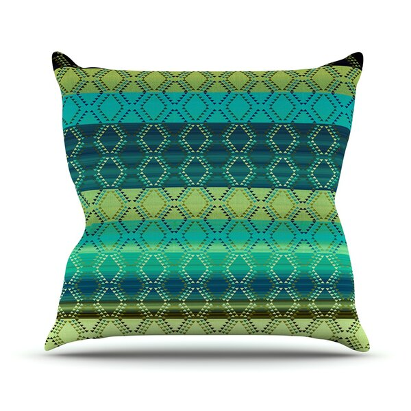 Denin Diamond by Nina May Outdoor Throw Pillow by East Urban Home