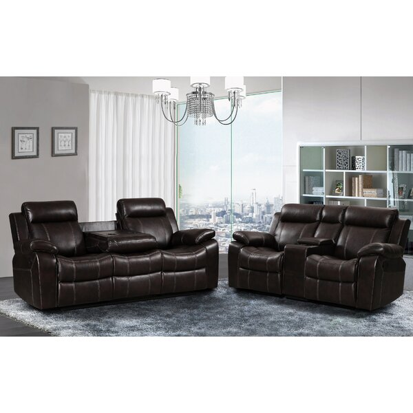 Gabrielle Reclining 2 Piece Living Room Set by Living In Style
