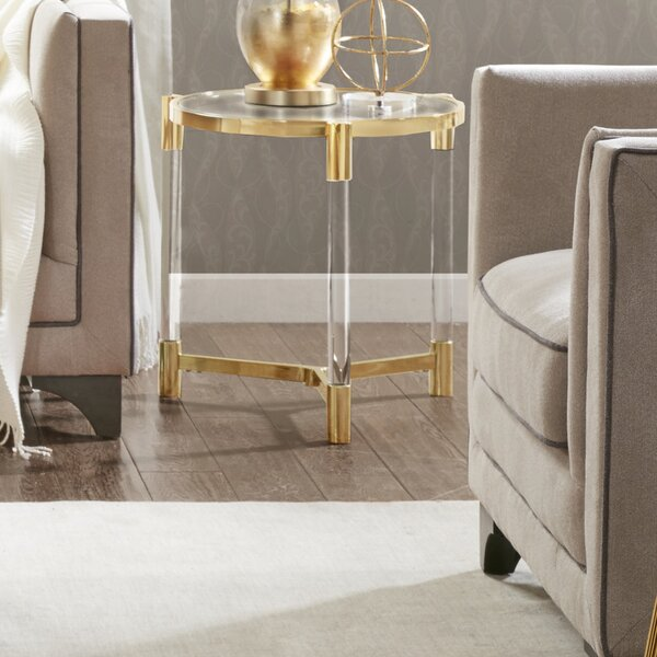 Chingford End Table by Everly Quinn