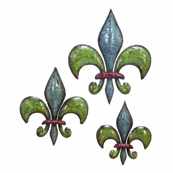 3 Piece Decorative Metal Fleur De Lis Set by Cole & Grey