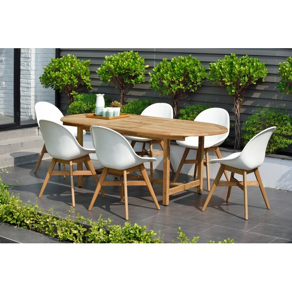 Cruce 7 Piece Teak Dining Set by Corrigan Studio