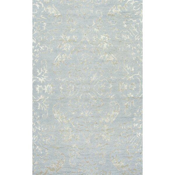 San Miguel Hand-Braided Silk/Wool Green/Gray Area Rug by nuLOOM