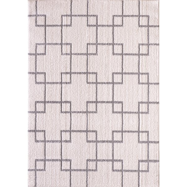 Kempf Cream/Silver Area Rug by Mercer41