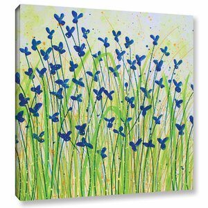 Wildflowers Painting Print on Wrapped Canvas by August Grove