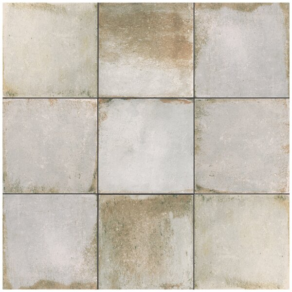 Relic 8.75 x 8.75 Porcelain Field Tile in Bianco by EliteTile