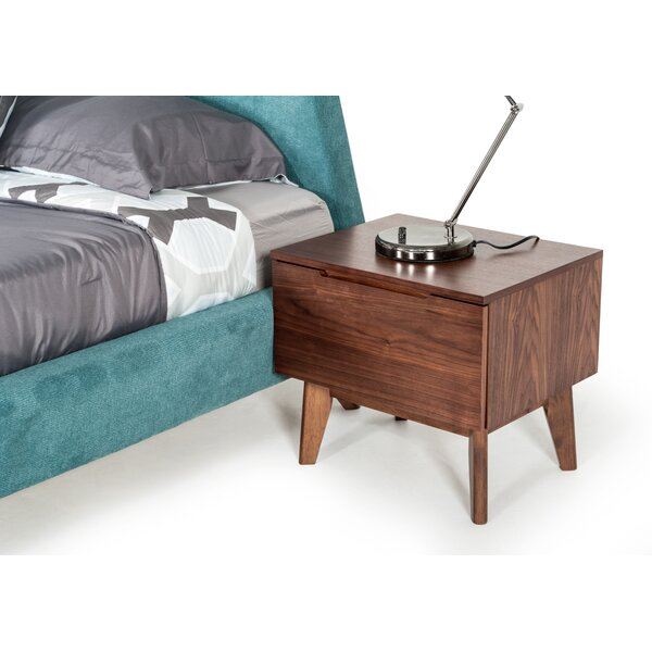 Drumnacole 1 Drawer Nightstand by Corrigan Studio