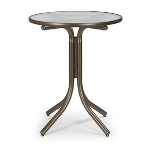 Charmant Glass Top Round Table