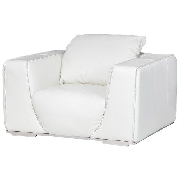 Mia Bella Sophia Leather Club Chair by Michael Amini