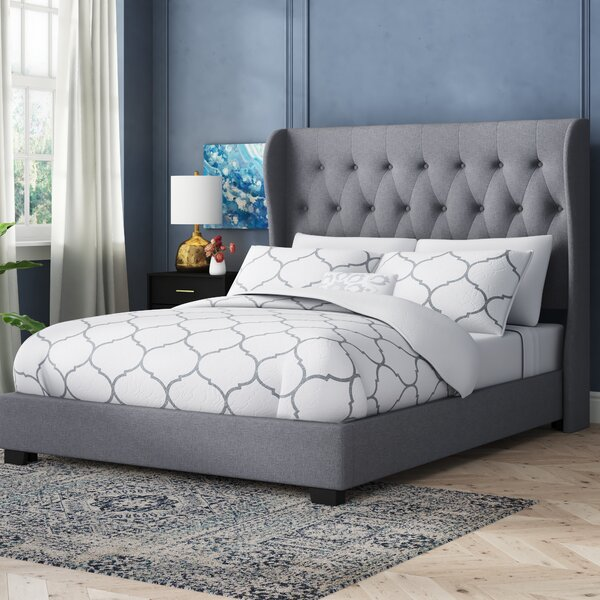 Mamadou Wood Framed Upholstered Standard Bed by Willa Arlo Interiors