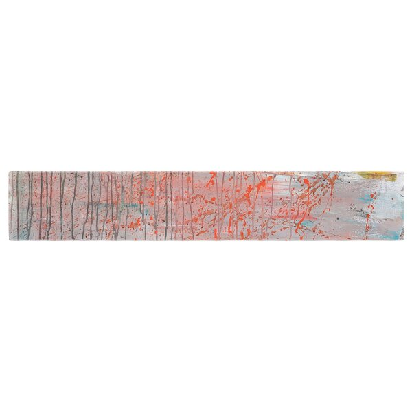 Iris Lehnhardt Mots de La Terre Splatter Paint Table Runner by East Urban Home