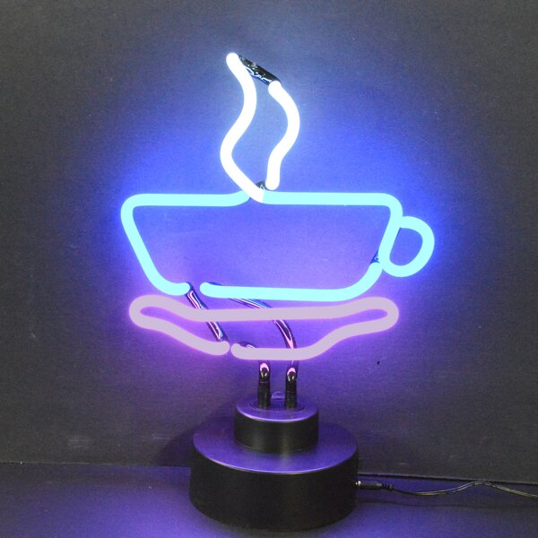 Business Signs Coffee Cup Neon Sign by Neonetics