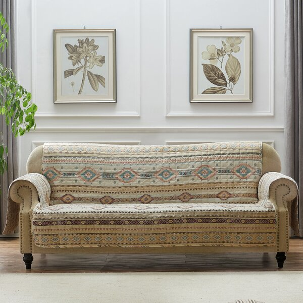 Easterling Box Cushion Sofa Slipcover By Millwood Pines