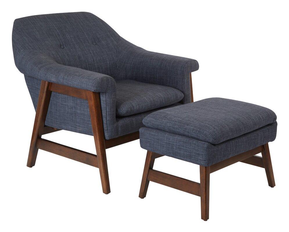 ave six flynton lounge chair and ottoman & reviews | wayfair