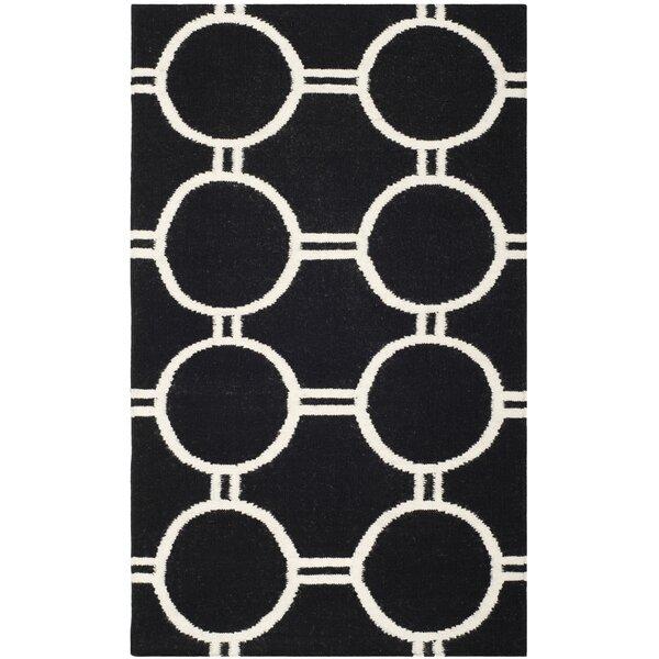 Dhurries Black/Ivory Area Rug by Safavieh